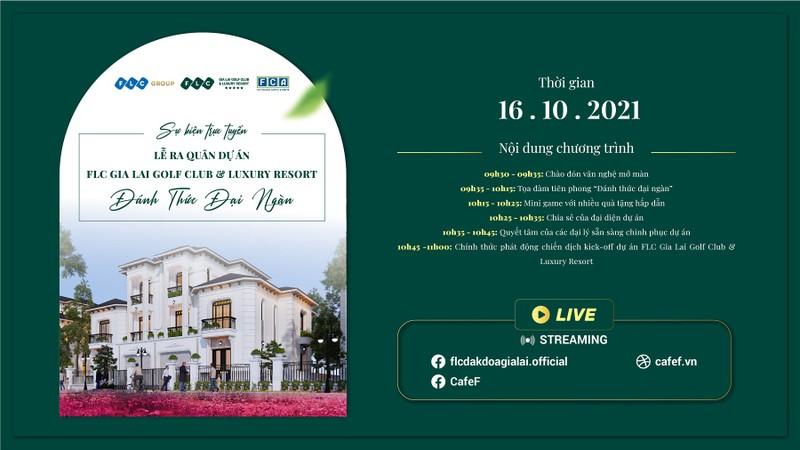 16/10: Truc tuyen ra mat quan the FLC Gia Lai quy mo hang dau Tay Nguyen