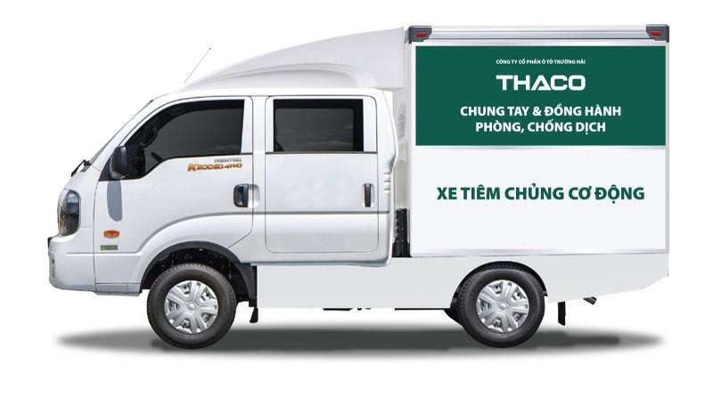 THACO tang thanh pho Ha Noi 300.000 kit test nhanh va 30 xe cuu thuong