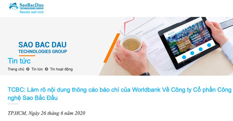 Sao Bac Dau thua nhan gian lan khien World Bank cam van 7 nam?