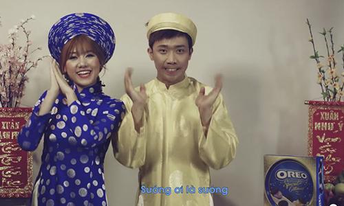 Nghe Tran Thanh, Hari Won doc ve Tet cuc dang yeu