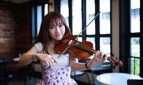 Tuyet pham violin Chac ai do se ve cua hotgirl xinh dep