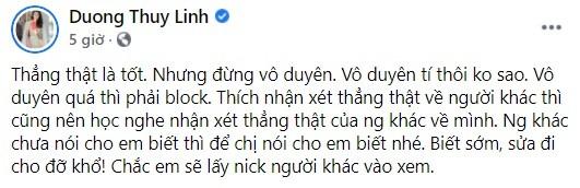 """Hoa hau Duong Thuy Linh tu mat ban than """"gop y vo duyen""""-Hinh-2"""