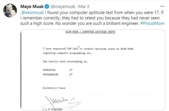 Elon Musk tung phai thi lai vi diem so qua cao
