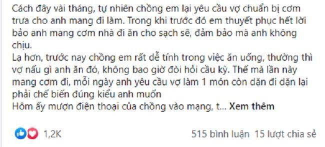 Chong dat hang vo nau com cho bo va cai ket khi bi phat hien