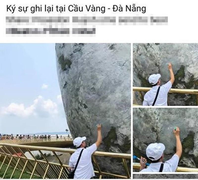 """Cau Vang Da Nang va nhung lan bi """"huy hoai"""" boi du khach-Hinh-5"""