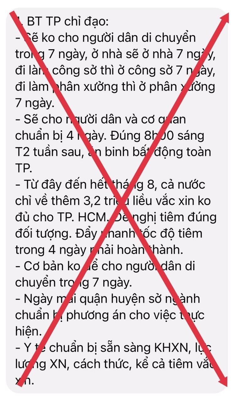 """""""Khong cho nguoi dan di chuyen trong 7 ngay"""" la thong tin gia mao"""
