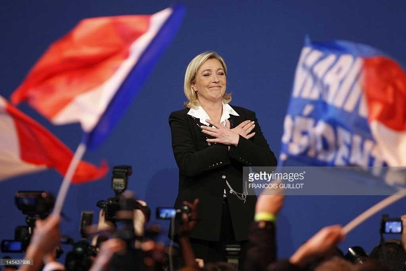 Bau cu Tong thong Phap: Marine Le Pen troi day manh me