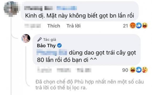 Bao Thy dap tra cuc gat khi bi anti-fan mia mai dep nho phau thuat-Hinh-2