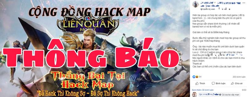 Lien quan mobile co the hack map gia gan 1 trieu/thang o Viet Nam