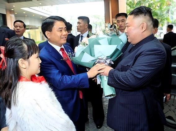 Chu tich Trieu Tien Kim Jong-un ve den khach san Melia, Ha Noi