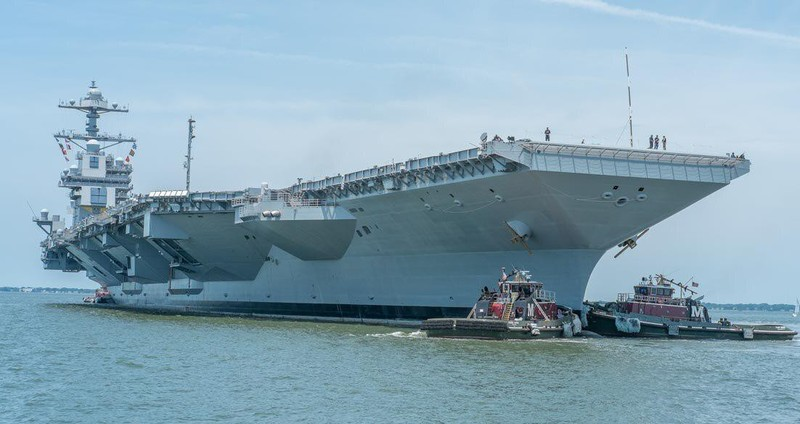 My phat met voi sieu tau san bay tau san bay USS Gerald R. Ford-Hinh-13
