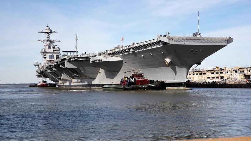 My phat met voi sieu tau san bay tau san bay USS Gerald R. Ford-Hinh-2