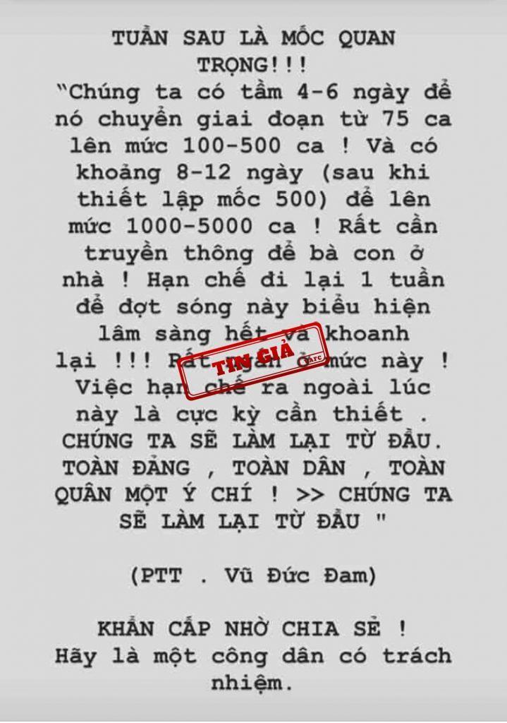 Gia mao phat ngon cua Pho Thu tuong Vu Duc Dam ve dich covid 19