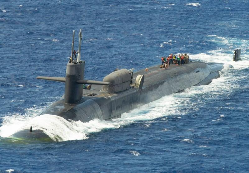 Tàu ngầm Mỹ chứa cả kho Tomahawk tới sát nách Trung Quốc tập trận