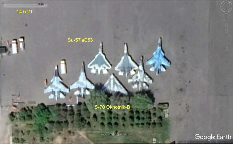 Mỹ chụp ảnh vệ tinh soi rõ Su-57 Nga tụ tập