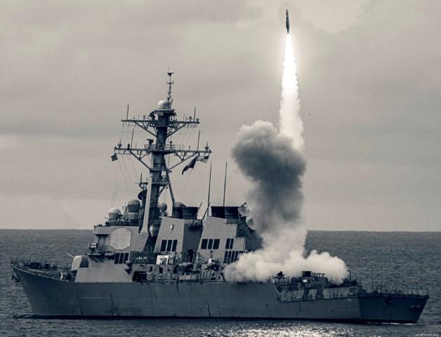 Sức mạnh khu trục hạm Mỹ vừa đi qua eo biển Đài Loan