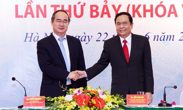 Ong Tran Thanh Man lam Chu tich Mat tran To quoc Viet Nam-Hinh-2