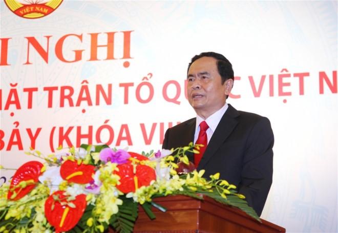 Ong Tran Thanh Man lam Chu tich Mat tran To quoc Viet Nam