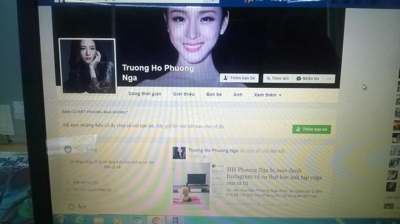 "Xuat hien hang loat facebook ""hoa hau Phuong Nga"" khoe di su kien"
