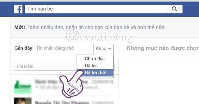 Meo lay lai tin nhan Facebook du khong con mot dau vet
