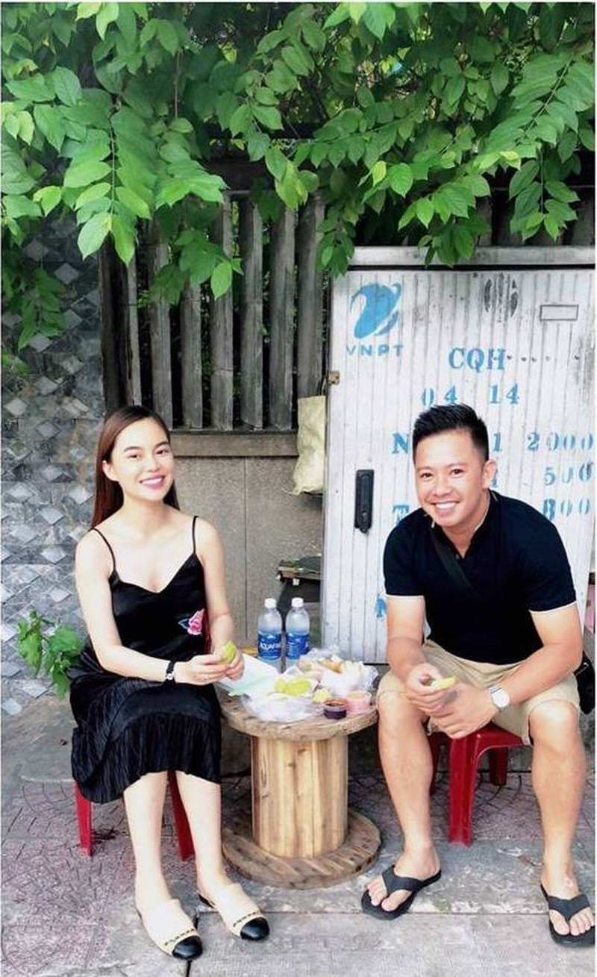 Giang Hong Ngoc vuong nghi van bau bi sau khi ra mat ban trai-Hinh-2