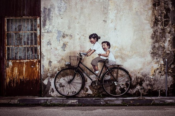 Phien ban lay loi cua buc tranh tuong noi tieng o Malaysia