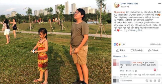 Con trai Hoang Bach tra loi ngay ngo khi gianh HCB Olympic Thanh pho