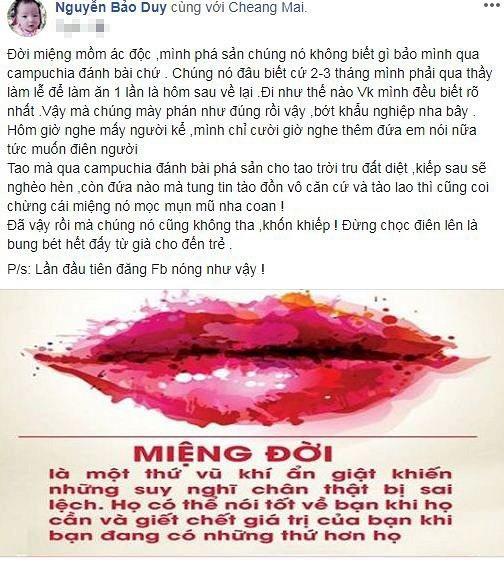 Chong cu Phi Thanh Van buc xuc truoc tin don sai lech ve minh