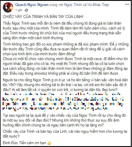 Phuong Channel len tieng khi Ngoc Trinh bi chi trich vi mac ho-Hinh-2