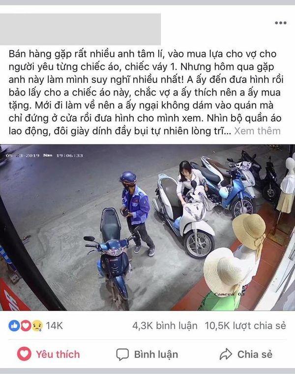 Cam dong chong lam lem ghe cua hang quan ao mua tang vo