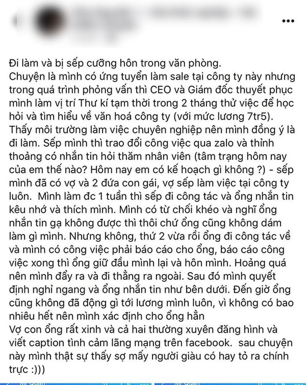 Sep yeu vo con nhung van cuong hon dong nghiep nu