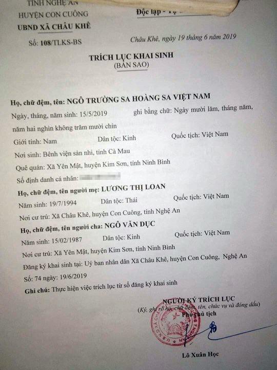 """Xon xao: Dat ten con la """"Truong Sa Hoang Sa Viet Nam"""""""