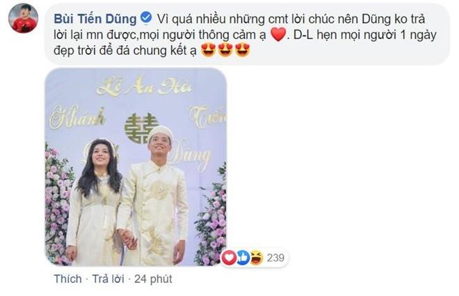 Bui Tien Dung au yem goi Khanh Linh la vo sau le an hoi-Hinh-2