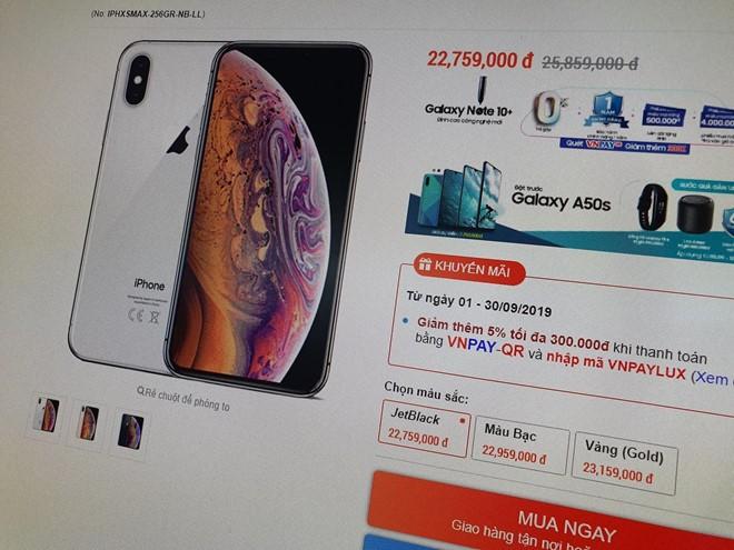 iPhone dong loat giam gia o VN, don duong cho iPhone 11