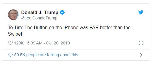 TT Donald Trump trach CEO Tim Cook vi bo nut home tren iPhone-Hinh-2