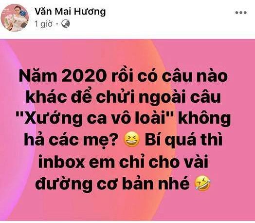 Bi anti fan 'ca khia', Van Mai Huong xoay lai sau vay