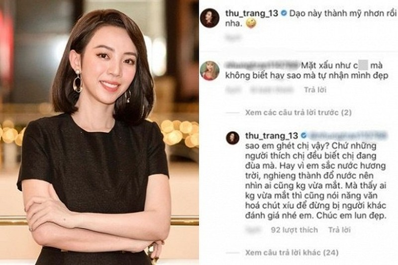 Bi dan mang che qua xau xi, Thu Trang dap tra tham thuy-Hinh-2