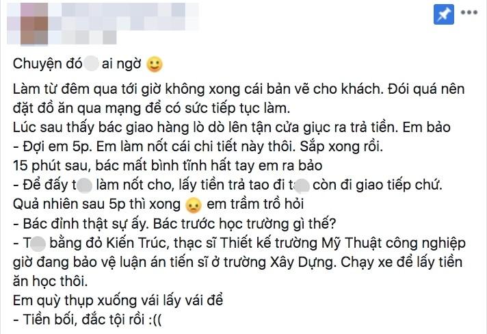 Chang nhan vien thiet ke duoc shipper thac si kien truc