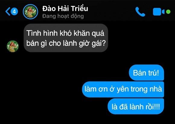 BB Tran hoi Hai Trieu nen ban gi mua dich va cau tra loi 'hu hon'