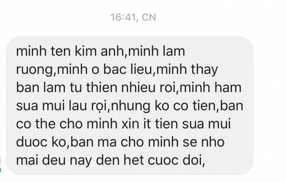 Thuy Tien cuoi muon sang vi co dan mang inbox xin tien di sua mui-Hinh-3
