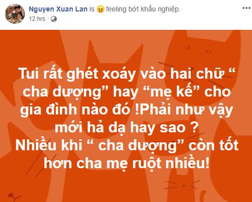 Xuan Lan kho chiu khi danh xung 'cha duong', 'me ke' bi mia mai