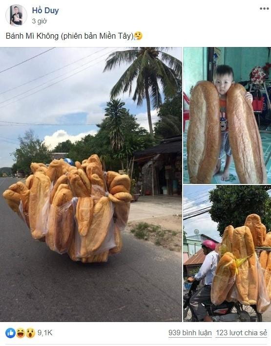 Banh mi khong lo o Hoi An gay bao cong dong mang