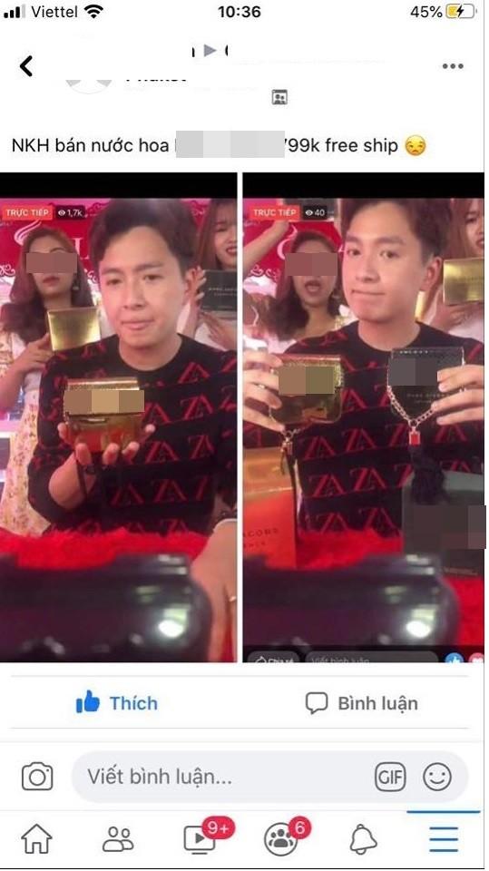 "Ngo Kien Huy bi ""nem da"" livestream ban hang fake"