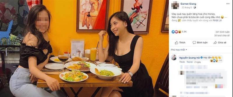 Huynh Anh xoa trang thai 'Dang hen ho' voi Quang Hai o Facebook-Hinh-2
