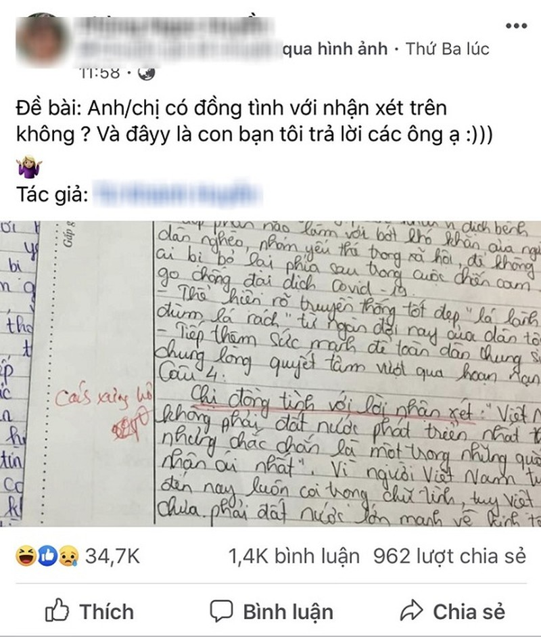 Cau tra loi kiem tra 'ba dao' cua nu sinh hut 35 nghin like