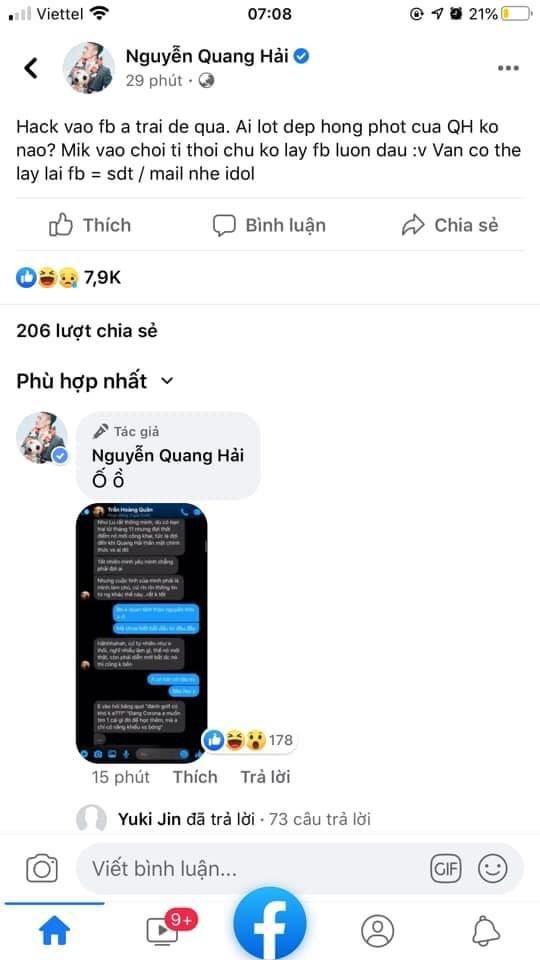 """Tranh cai viec cong dong mang """"bao like"""" cho hacker vu Quang Hai"""
