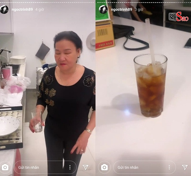 Bo me Ngoc Trinh phuc vu con gai an uong tan chan rang-Hinh-3