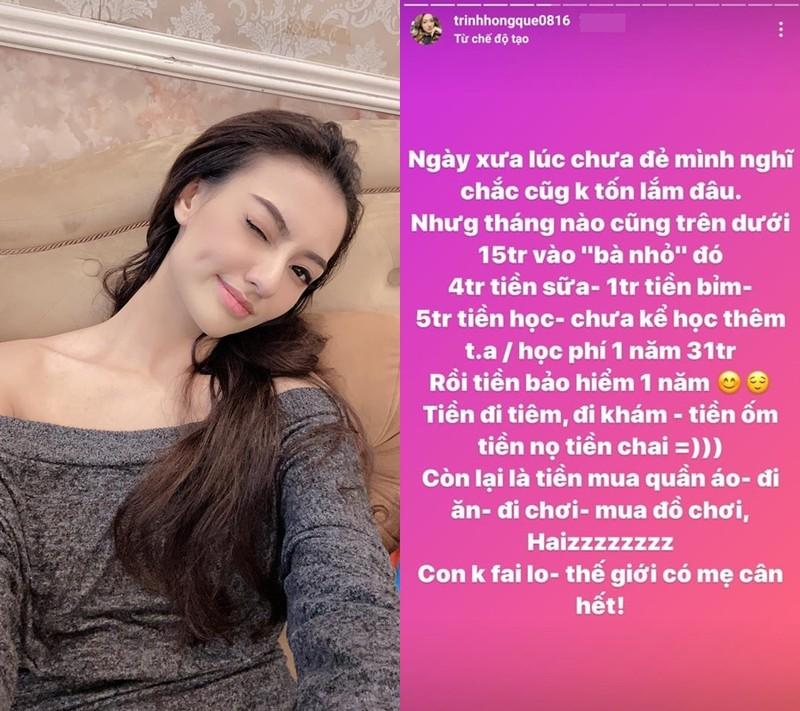 Hong Que liet ke chi phi nuoi con vai chuc trieu dong moi thang-Hinh-2