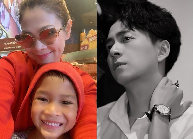 Thanh Thao tuc gian khi bi chi trich loi dung con trai Ngo Kien Huy