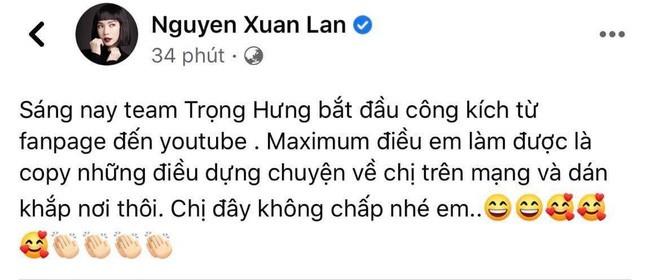 Xuan Lan tiep tuc to Trong Hung dung chuyen cong kich minh